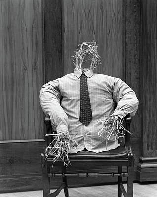 Fanciful Photograph - 1930s Symbolic Straw Man In Shirt by Vintage Images