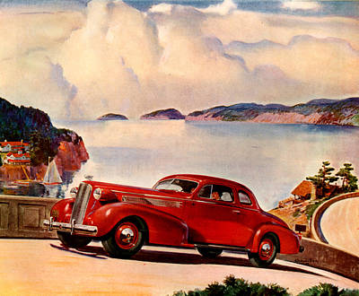 1930s Usa Cadillac Magazine Advert Art Print