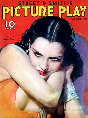 Stein Drawing - 1930s Usa Picture Play Magazine Cover by The Advertising Archives