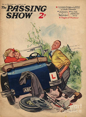 Drawing - 1930s,uk,passing Show,magazine Cover by The Advertising Archives