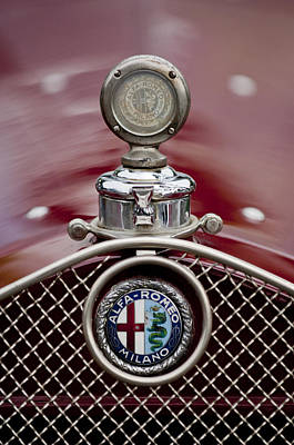 1931 Alfa-romeo Hood Ornament Art Print by Jill Reger