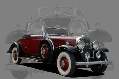 Photograph - 1931 Cadillac V12 Roadster by TeeMack