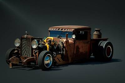 Photograph - 1931 Chevrolet Diesel Rat Rod Pickup Truck by Tim McCullough