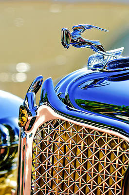 Photograph - 1931 Chrysler Cg Imperial Dual Cowl Phaeton Hood Ornament - Grille by Jill Reger