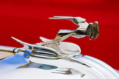 Photograph - 1931 Chrysler Coupe Hood Ornament by Jill Reger