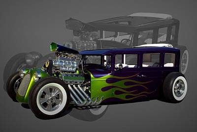 Photograph - 1931 Chrysler Custom Sedan Hot Rod by Tim McCullough