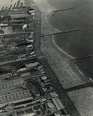 Coney Island Photograph - 1931 Coney Island Looks Like Fun by Retro Images Archive