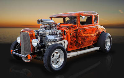 Photograph - 1931 Ford 5 Window Pro Street Coupe by Frank J Benz