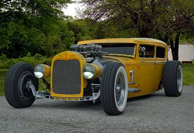 Photograph - 1931 Ford Custom Sedan Rat Rod by Tim McCullough