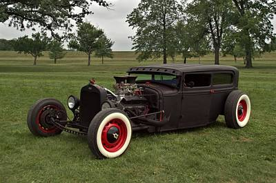 Photograph - 1931 Ford Flat Top Sedan Rat Rod by Tim McCullough
