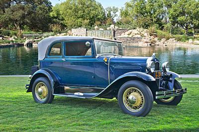 1931 Ford Model A 400 Convertible Sedan IIi Art Print