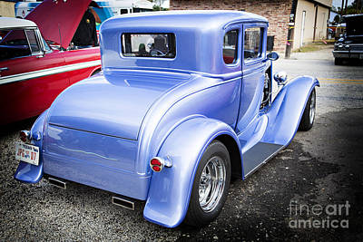 Photograph - 1931 Ford Model A Classic Car Back Side In Color 3217.02 by M K  Miller