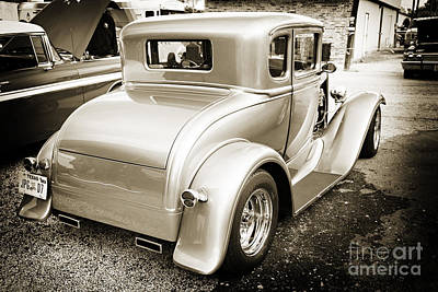 Photograph - 1931 Ford Model A Classic Car Back Side In Sepia 3217.01 by M K Miller