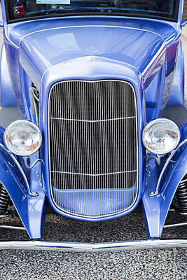 Photograph - 1931 Ford Model A Classic Car Front End In Color 3215.02 by M K  Miller
