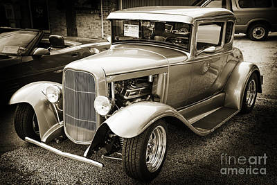 Rat Rod Digital Art - 1931 Ford Model A Complete Classic Car In Sepia 3212.01 by M K  Miller