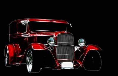Digital Art - 1931 Ford Panel Truck 2 by Davandra Cribbie