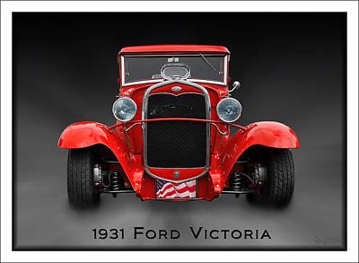 1931 Ford Victoria Photograph - 1931 Ford Victoria by Robert Schwarztrauber