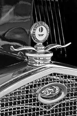 Ford Model A Photograph - 1931 Model A Ford Deluxe Roadster Hood Ornament 2 by Jill Reger