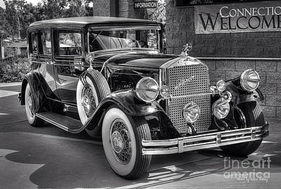 Photograph - 1931 Pierce Arrow Black And White by Kevin Ashley