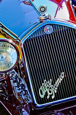 1932 Alfa Romeo 6c 1750 Series V Gran Sport Grille Emblems Art Print