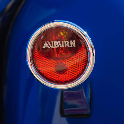 Photograph - 1932 Auburn Twelve Custom Phaeton Taillight Emblem -0649c4 by Jill Reger