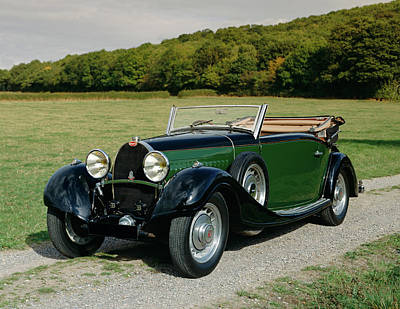 Bugatti Classic Car Photograph - 1932 Bugatti Type 49 3.2 Drophead by Panoramic Images