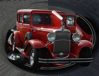 Art Print featuring the pyrography 1932 Chevrolet by B Wayne Mullins