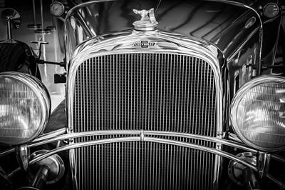 Photograph - 1932 Chevrolet Series Ba Confederate Sedan Deluxe Bw by Rich Franco