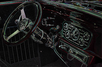 Photograph - 1932 Chevy Coupe Interior by Thom Zehrfeld