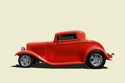 Print featuring the photograph 1932 Ford 3 Window Coupe by Keith Hawley