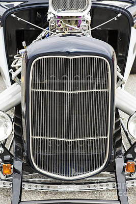 Photograph - 1932 Ford Highboy Grill Only Car Automobile In Color  3106.02 by M K Miller