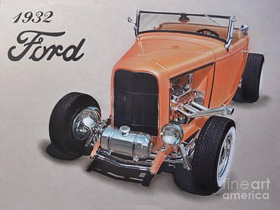 1932 Ford Art Print by Paul Kuras