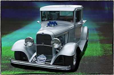 Art Print featuring the digital art 1932 Ford Pickup by Richard Farrington