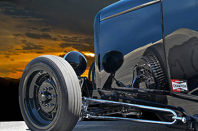 Street Rod Photograph - 1932 Ford Roadster 'reflections' by Dave Koontz