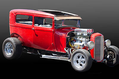 Street Rod Photograph - 1932 Ford Sedan Street Rod by J Darrell Hutto