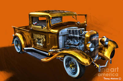 1932 Ford Truck Street Road Art Print by Tommy Anderson