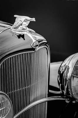 1932 Ford Photograph - 1932 Ford V8 Hood Ornament - Grille Emblem by Jill Reger