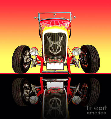 1932 Front Ford V8 Hotrod Print by Jim Carrell