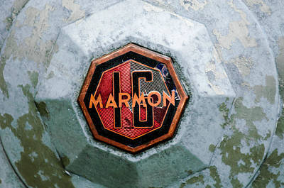 Photograph - 1932 Marmon Sixteen Lebaron Victoria Coupe Emblem by Jill Reger