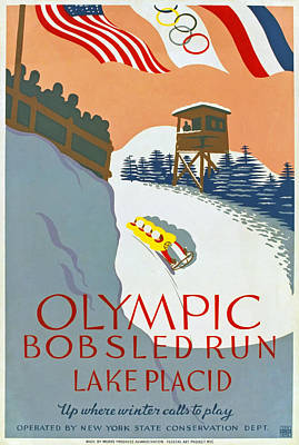 Bobsled Photograph - 1932 Olympic Games by Mountain Dreams