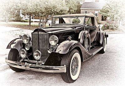 Transportation Photograph - 1932 Packard 903 Victoria by Marcia Colelli