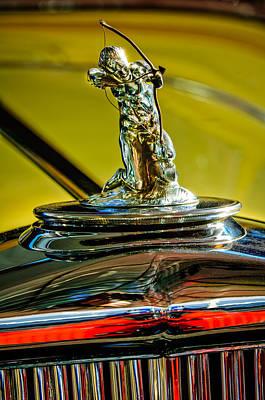 Photograph - 1932 Pierce-arrow Model 54 Convertible Sedan Hood Ornament -0243c by Jill Reger
