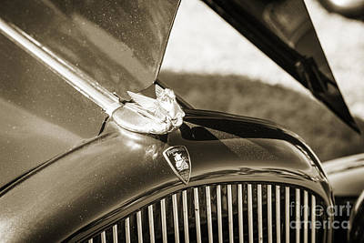 Photograph - 1932 Plymouth Emblem On Hood In Sepia 3045.01 by M K  Miller