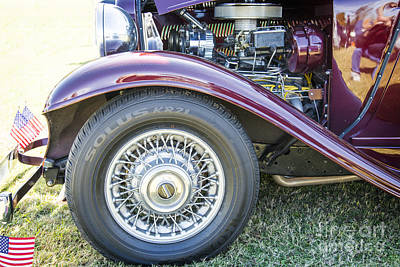 Photograph - 1932 Plymouth Front Fender In Color Purple 3047.02 by M K  Miller