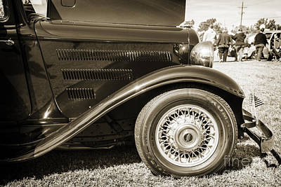Photograph - 1932 Plymouth Right Front Fender Side In Sepia 3049.01 by M K  Miller
