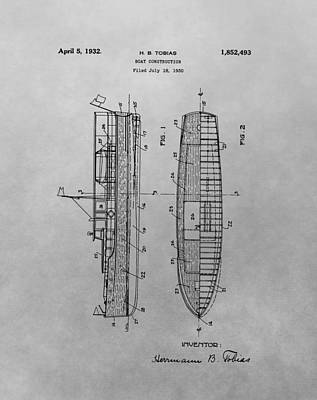 Drawing - 1932 Ship Patent Drawing by Dan Sproul