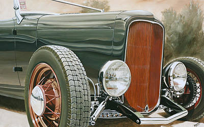 Painting - 1932 Ford Stanek Roadster by Branden Hochstetler