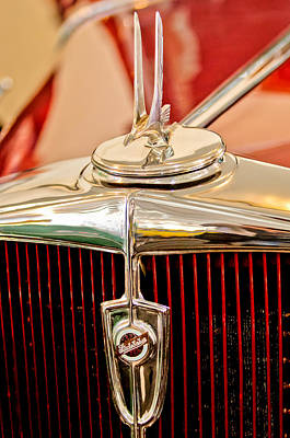 1932 Studebaker Dictator Custom Coupe Hood Ornament - Emblem Art Print