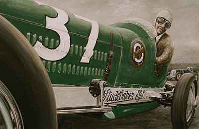Painting - 1932 Studebaker Indy Car by Branden Hochstetler