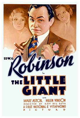 Edward G. Robinson Wall Art - Digital Art - 1933 - The Little Giant - Warner Brothers Movie Poster - Edward G Robinson - Color by John Madison